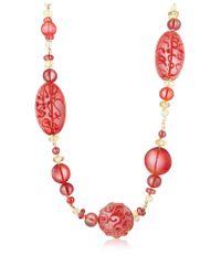 Antica Murrina Red Caprice Murano Glass Long Necklace