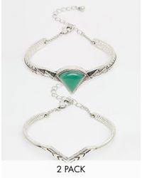 ASOS | Green Limited Edition Triangle Etched Bracelet Pack | Lyst
