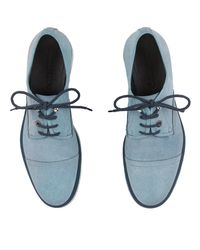 Jimmy Choo | Stewart Avion Blue Waxed Soft Leather Lace Up Shoes for Men | Lyst
