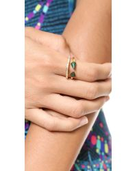 Vita Fede - Green Ultra Mini Titan Stone & Crystal Ring - Criscolla/Gold - Lyst