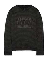 Alexander Wang - Black Parental Advisory Mesh Sweatshirt - Lyst