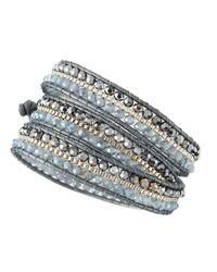 Nakamol | Metallic Czech Crystal Beaded Wrap Bracelet | Lyst