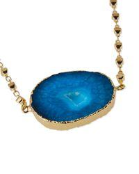Panacea | Blue Short Stone Pendant Necklace | Lyst