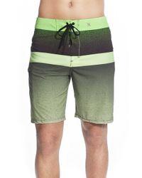 Hurley Green 'phantom Block Flight' Board Shorts for men