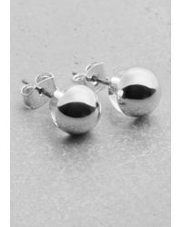 & Other Stories | Metallic Globe Stud Earrings | Lyst