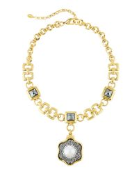 Jose & Maria Barrera | White Pearl & Druzy Pendant Necklace | Lyst