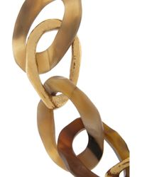Ashley Pittman | Brown Kiungo Horn And Gold-Tone Necklace | Lyst
