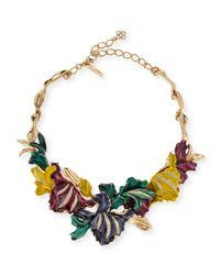 Oscar de la Renta | Metallic Swarovski® Crystal Tulip Necklace | Lyst