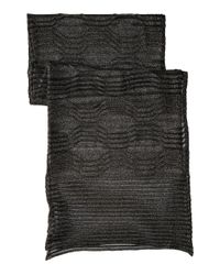 M Missoni | Black Solid Lurex Scarf | Lyst