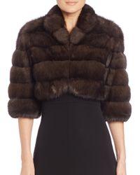Saks Fifth Avenue - Brown Sable Fur Bolero - Lyst