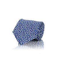 Battistoni - Blue Men's Floral Necktie for Men - Lyst