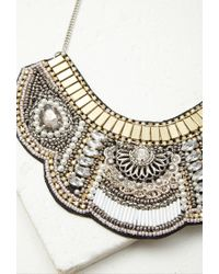 Forever 21 | Metallic Beaded Faux Gem Bib Necklace You've Been Added To The Waitlist | Lyst