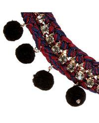 River Island | Red Pom Pom Embellished Necklace | Lyst