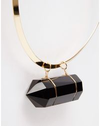 ASOS - Metallic Statement Glass Shard Torque Necklace - Lyst