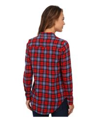 Vans | Red Adolescence Flannel Top | Lyst