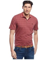 Izod | Red Performance Windowpane Polo for Men | Lyst