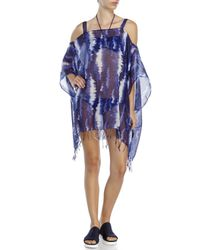 BCBGeneration | Blue California Woven Poncho Cover-Up | Lyst