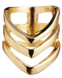 River Island | Metallic Three Row Finger Top Ring | Lyst