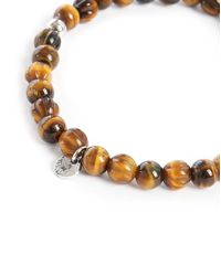 Tateossian | Brown Beads Round-disc 17.5 Cm Bracelet for Men | Lyst