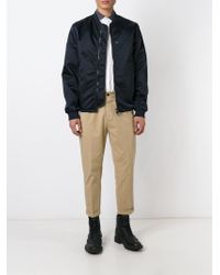 DSquared² - Natural Cropped Chino Trousers for Men - Lyst