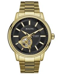 Bulova - Metallic Men's Automatic Gold-tone Stainless Steel Bracelet Watch 45mm 97a114 for Men - Lyst