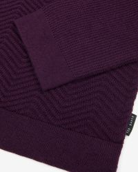 Ted Baker - Purple Textured Wool Jumper for Men - Lyst