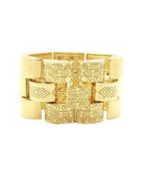 House of Harlow 1960 - Metallic Warrior Tiles Link Bracelet - Lyst