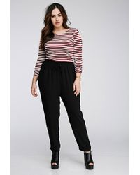 Forever 21 | Black Plus Size Drawstring Woven Pants | Lyst