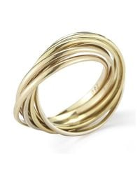 Cartier | Metallic Pre-Owned: 18Ky Gold 6 Band Trinity Style Ring | Lyst