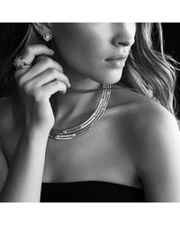 David Yurman | Metallic Infinity Earrings With Diamonds In 18k Gold | Lyst