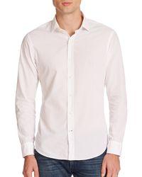 Ralph Lauren Black Label - White Sloan Poplin Sportshirt for Men - Lyst