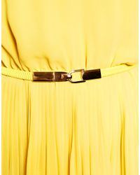 Oasis - Yellow Chain Neck Maxi Dress - Lyst