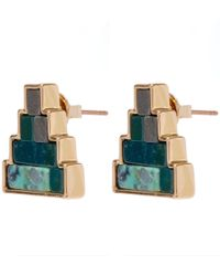 Lulu Frost - Blue Gold-tone Ortigia Stone Stud Earrings - Lyst