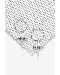Nasty Gal - Metallic Luv Aj Cross Purposes Hoop Earrings - Lyst