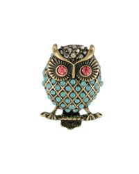 Betsey Johnson | Multicolor Pet Shop Owl Stud Earrings | Lyst