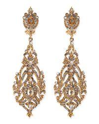 Jose & Maria Barrera | Metallic Champagne Crystal Clip-on Earrings | Lyst