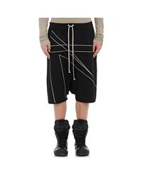 Rick Owens - Black Men'S Doeskin Tailored Cotton Podshorts - Lyst