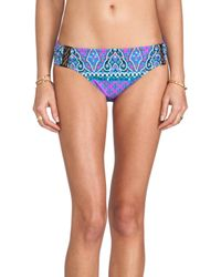 Nanette Lepore - Moroccan Medallion Nymph Bikini Bottoms in Purple - Lyst
