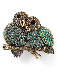 Carolee | Green Lovebirds Pin | Lyst