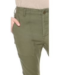 NLST - Green Slouch Utility Trousers - Olive Drab - Lyst