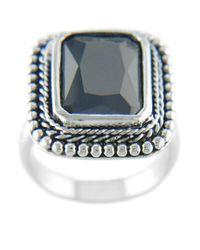 Lord & Taylor - Black Cubic Zirconia Ring - Lyst