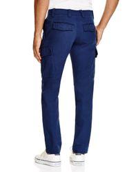 Lacoste - Blue Broken Twill Slim Fit Pants for Men - Lyst