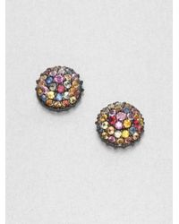 M.c.l  Matthew Campbell Laurenza | Multicolored Sapphire & Sterling Silver Button Earrings | Lyst
