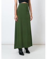 KENZO - Green A-line Maxi Skirt - Lyst
