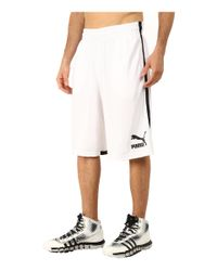 "PUMA White 12"" Hoops Shorts for men"