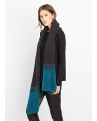 Vince | Black Needle Punch Colorblock Scarf | Lyst