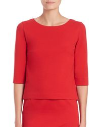 Akris Punto | Red Mesh-peplum Top | Lyst