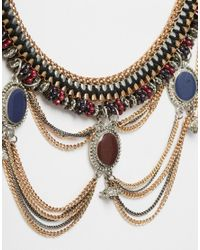 ASOS - Multicolor World Traveller Statement Necklace - Lyst