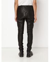 Julius - Black Paneled Trousers for Men - Lyst