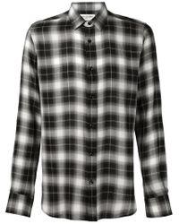 Saint Laurent - Black Classic Plaid Shirt for Men - Lyst